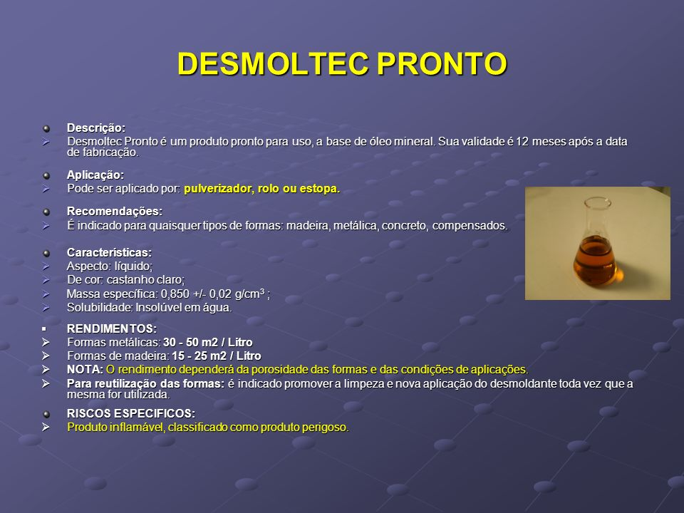DESMOLTEC PRONTO Descrição: