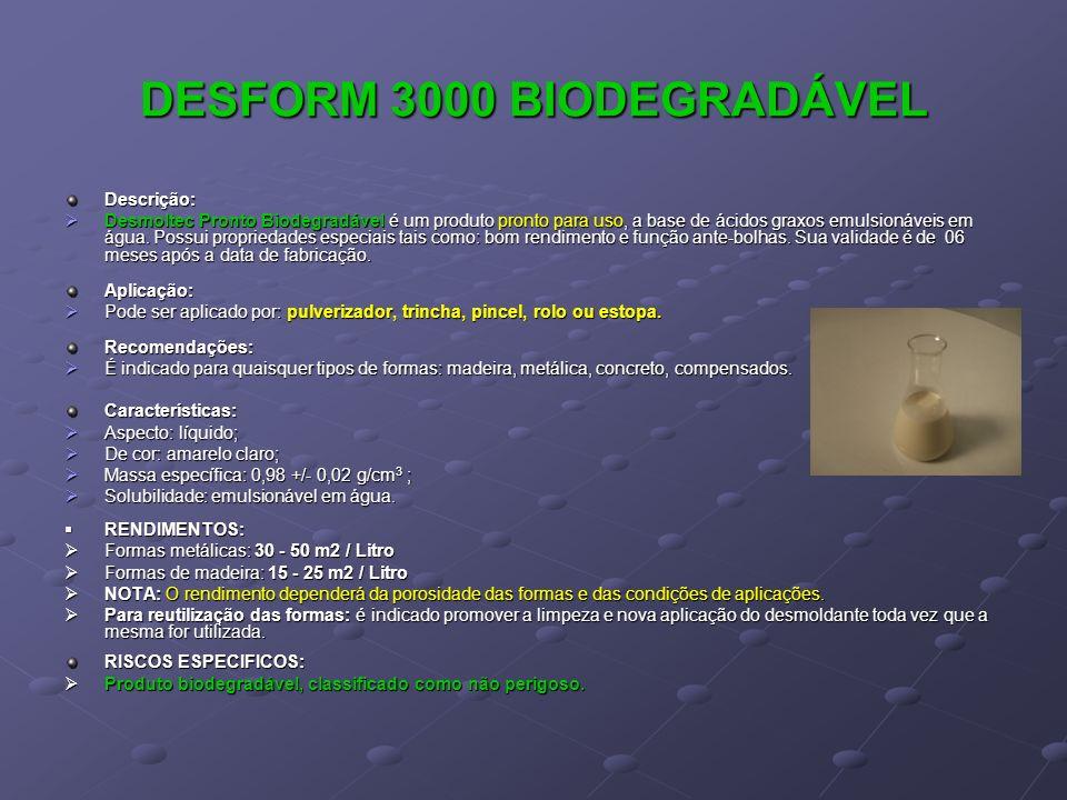 DESFORM 3000 BIODEGRADÁVEL