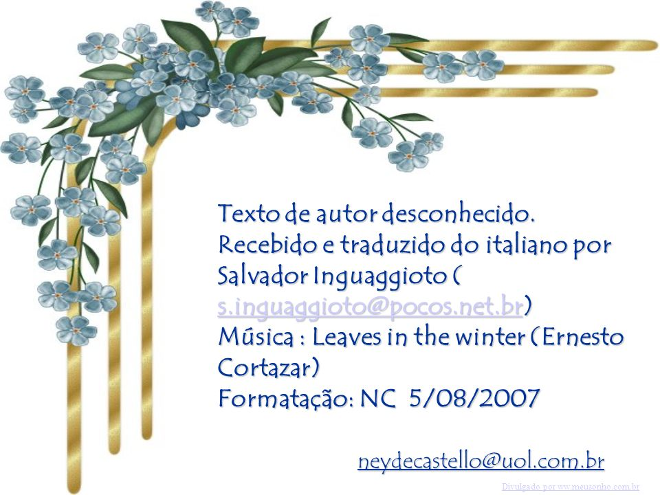 Música : Leaves in the winter (Ernesto Cortazar)