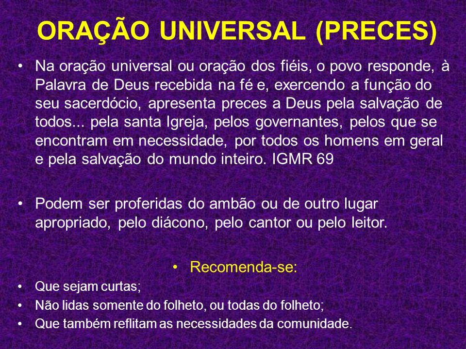 ORAÇÃO UNIVERSAL (PRECES)