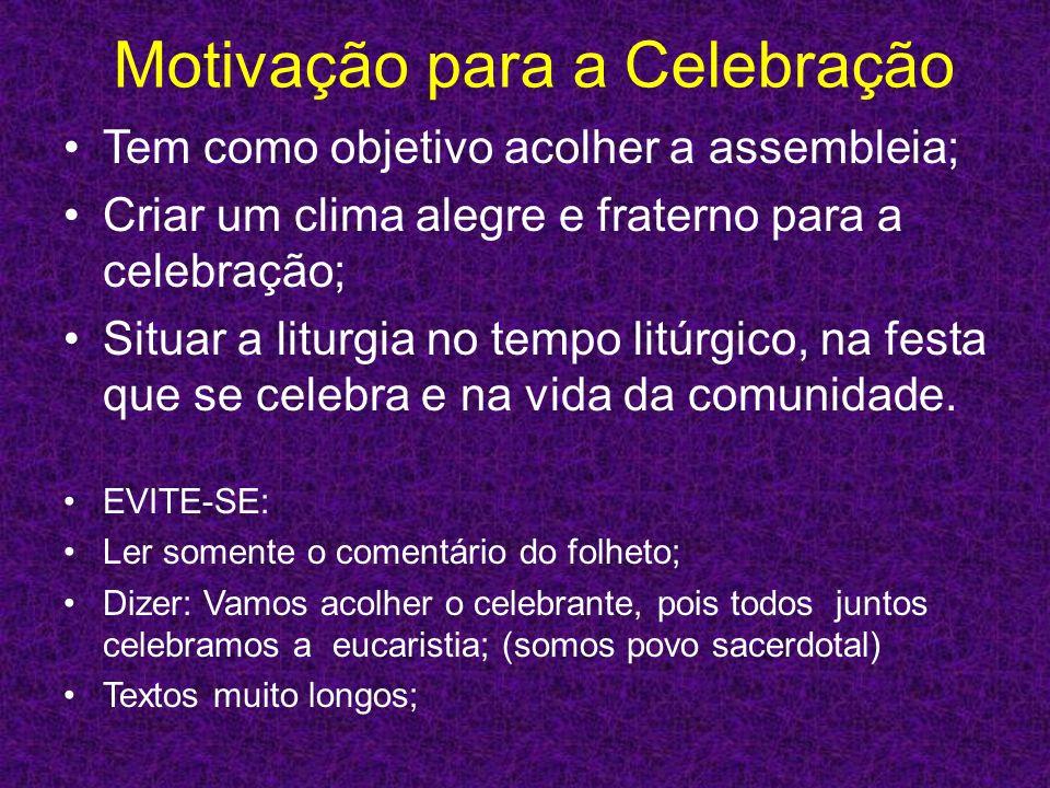 Motivação para a Celebração