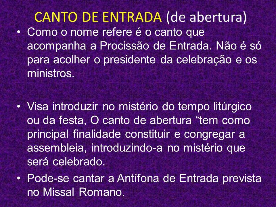 CANTO DE ENTRADA (de abertura)