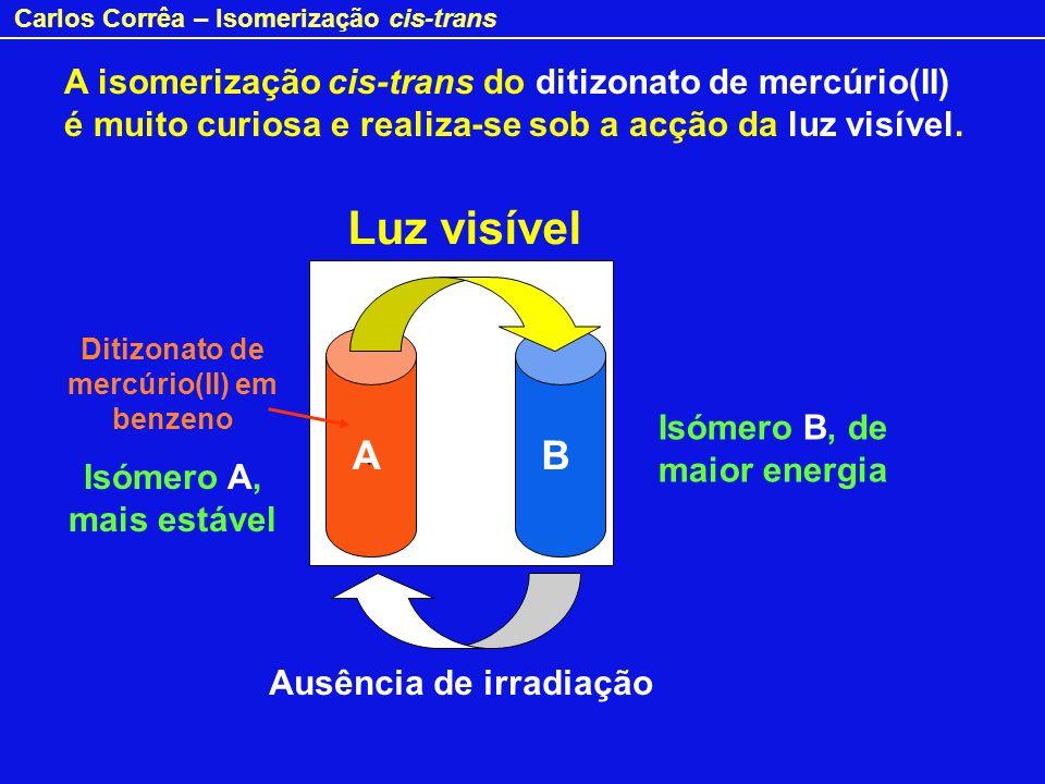Ditizonato de mercúrio(II) em benzeno Ausência de irradiação