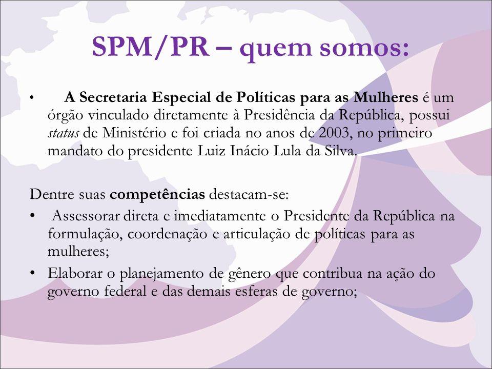 SPM/PR – quem somos: Dentre suas competências destacam-se: