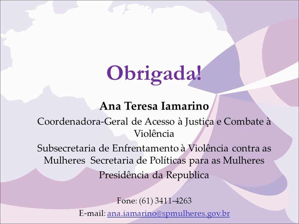Obrigada! Ana Teresa Iamarino