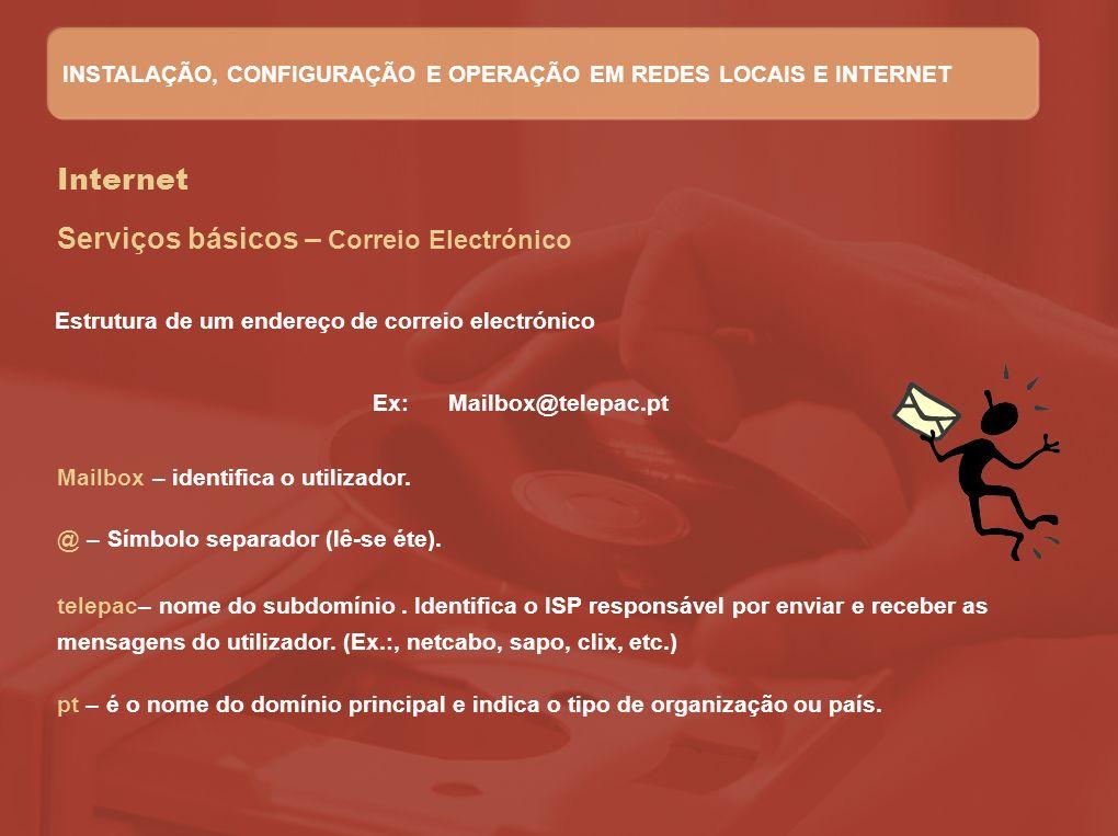 Ex: Mailbox@telepac.pt