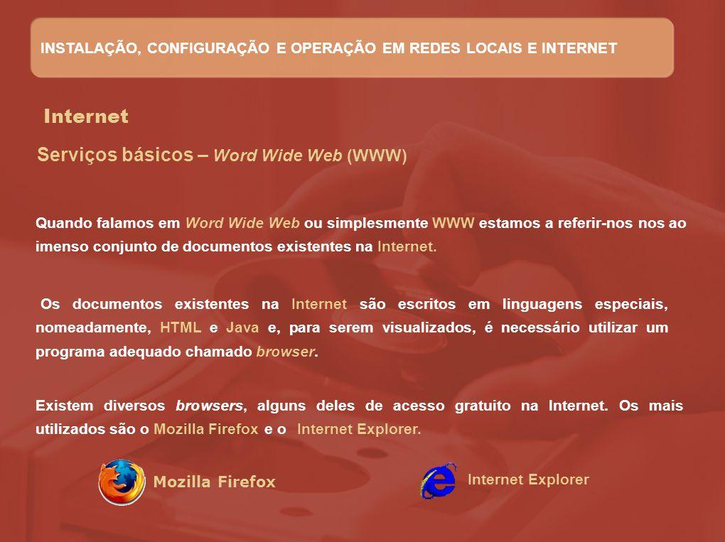 Serviços básicos – Word Wide Web (WWW)