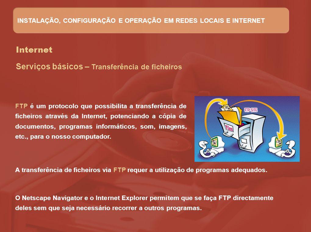 Serviços básicos – Transferência de ficheiros