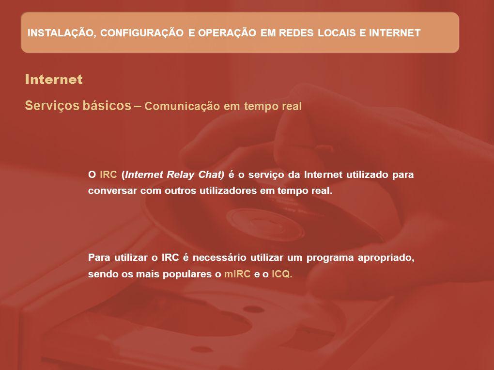 Serviços básicos – Comunicação em tempo real