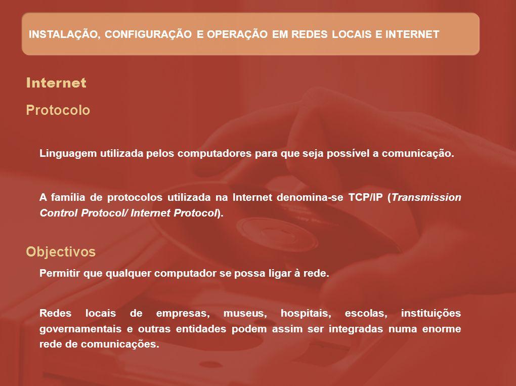 Internet Protocolo Objectivos