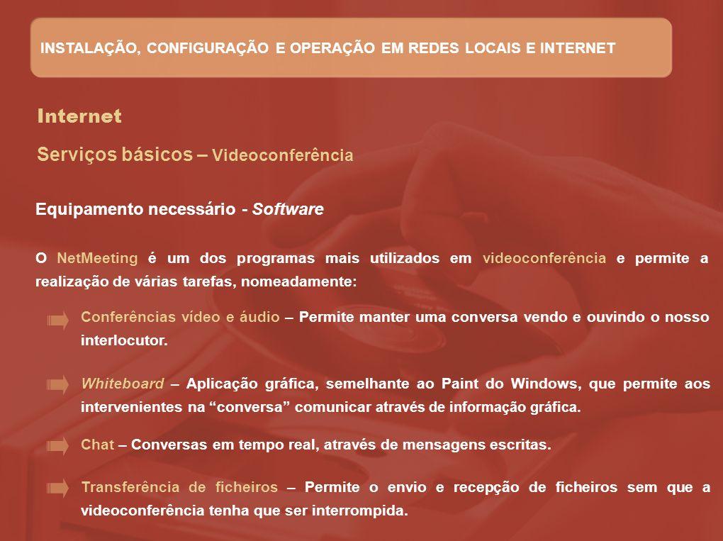 Serviços básicos – Videoconferência