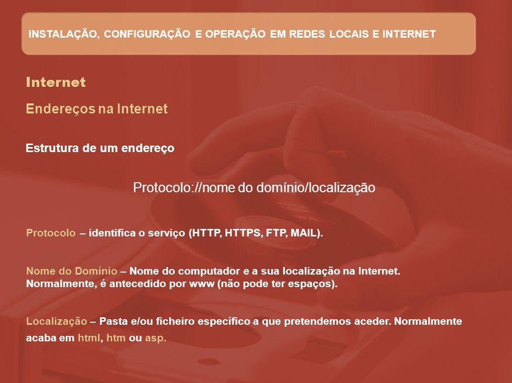 Protocolo://nome do domínio/localização