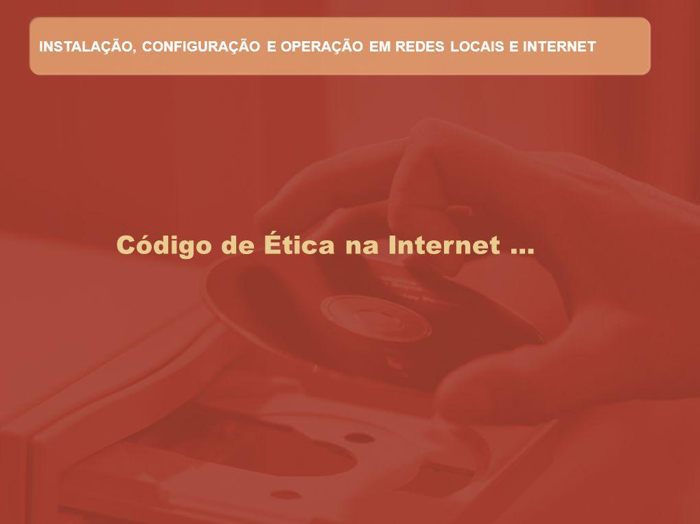 Código de Ética na Internet …