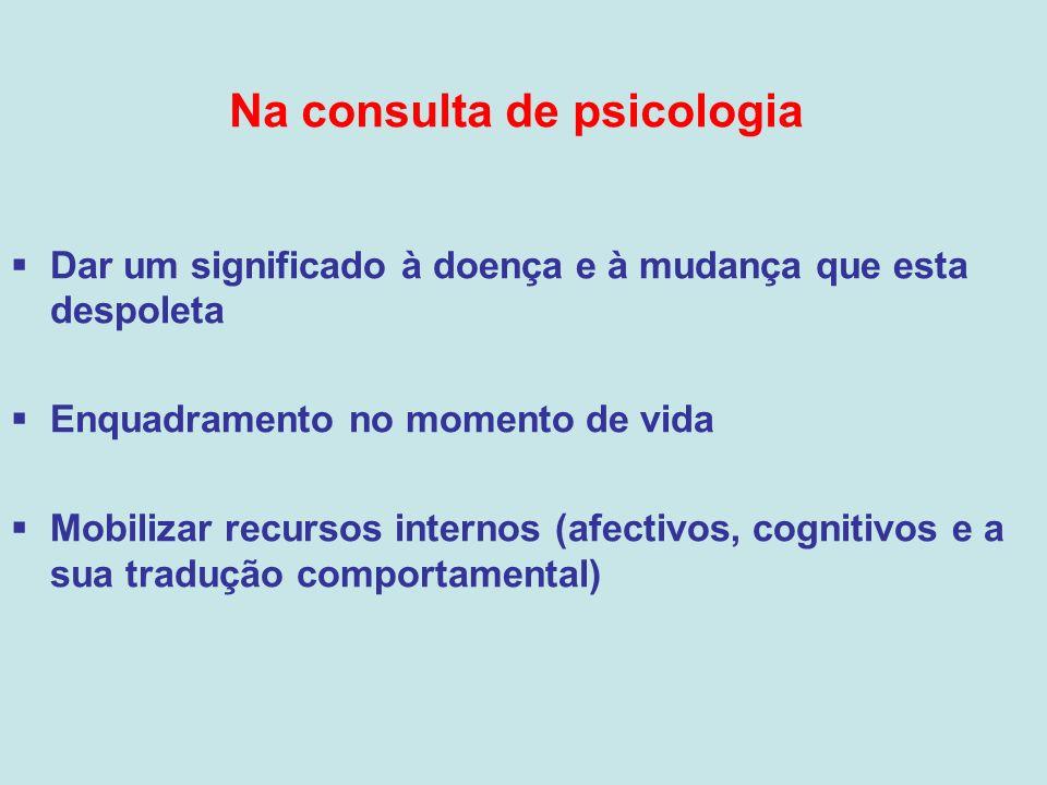 Na consulta de psicologia