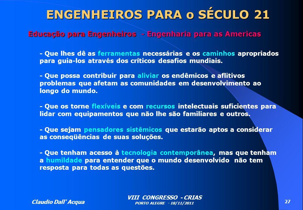ENGENHEIROS PARA o SÉCULO 21