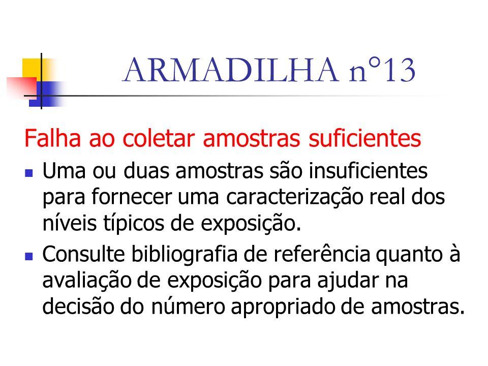 ARMADILHA n°13 Falha ao coletar amostras suficientes