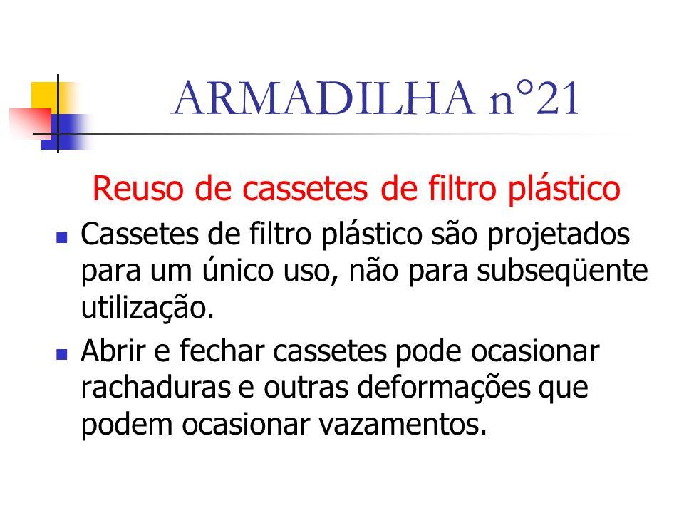 Reuso de cassetes de filtro plástico
