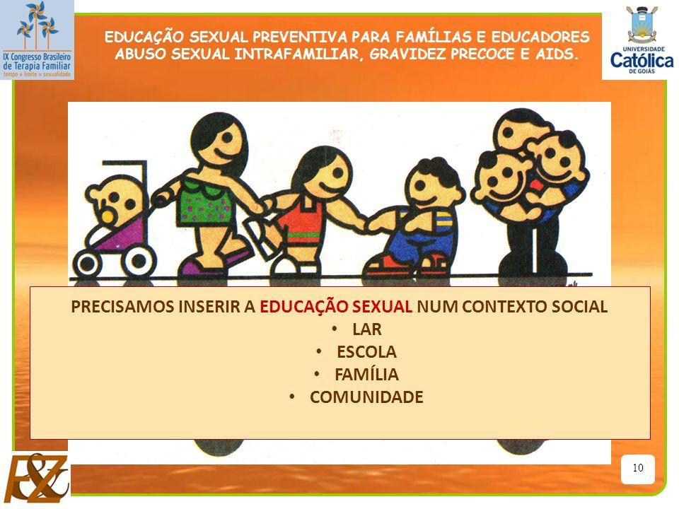 PRECISAMOS INSERIR A EDUCAÇÃO SEXUAL NUM CONTEXTO SOCIAL LAR ESCOLA
