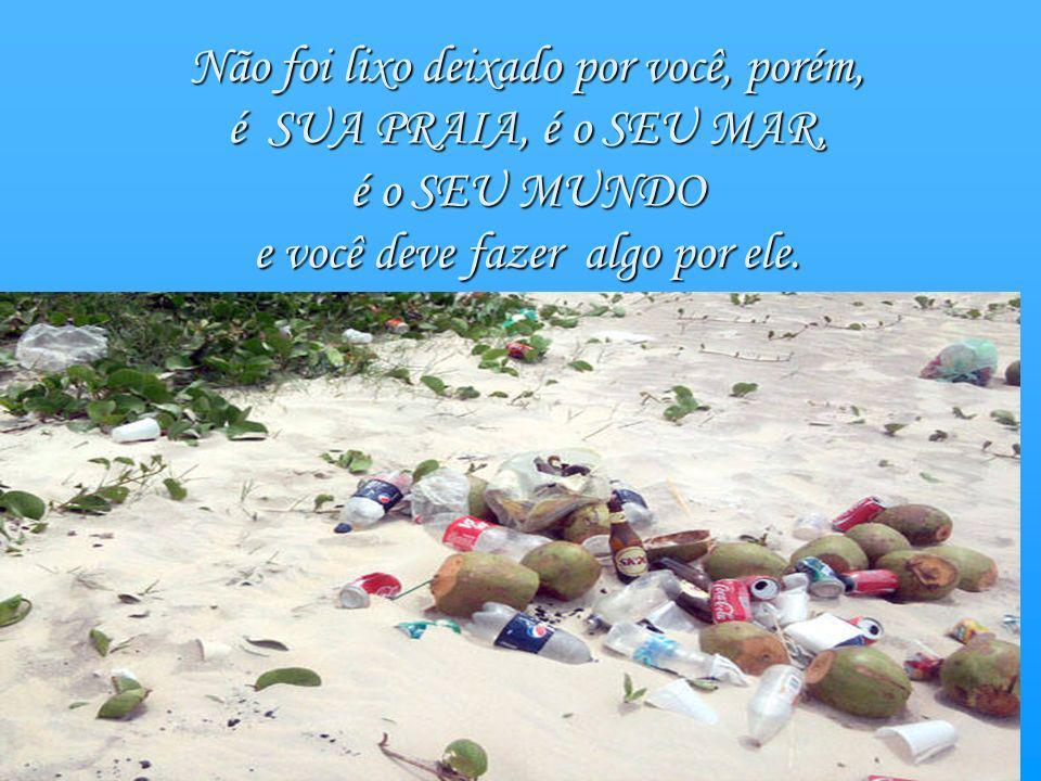 Não foi lixo deixado por você, porém, é SUA PRAIA, é o SEU MAR,