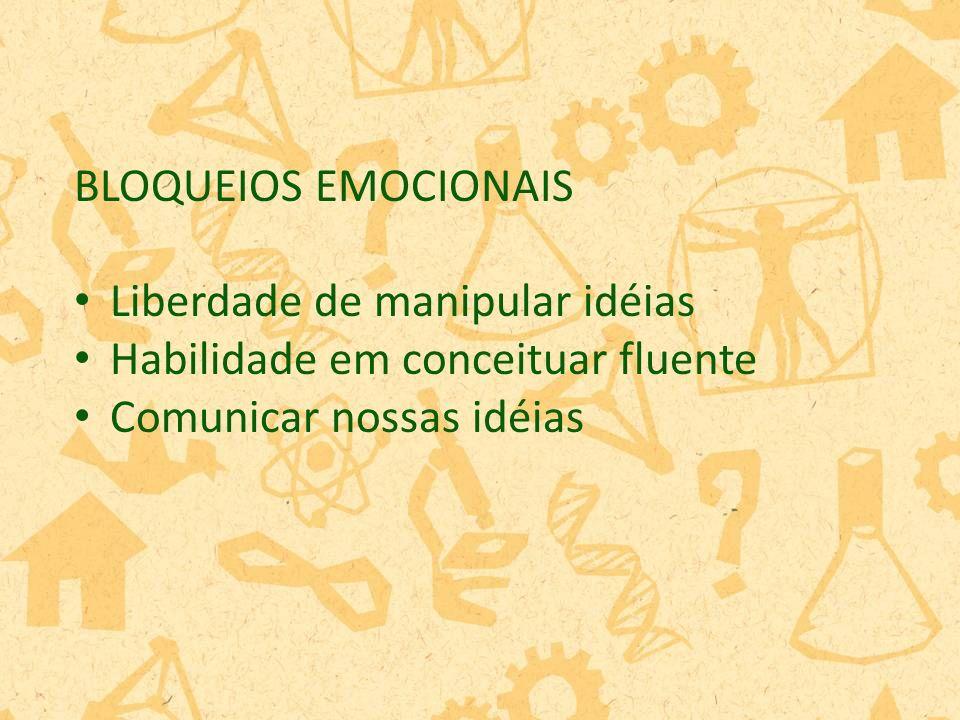 BLOQUEIOS EMOCIONAIS Liberdade de manipular idéias.