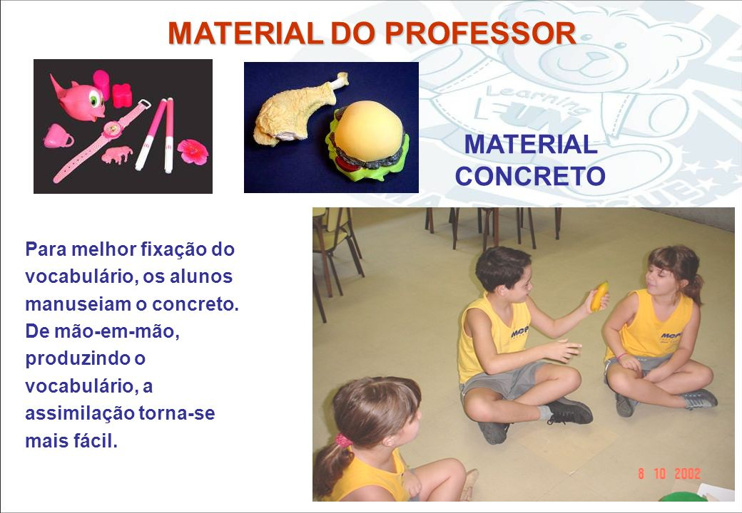 MATERIAL DO PROFESSOR MATERIAL CONCRETO