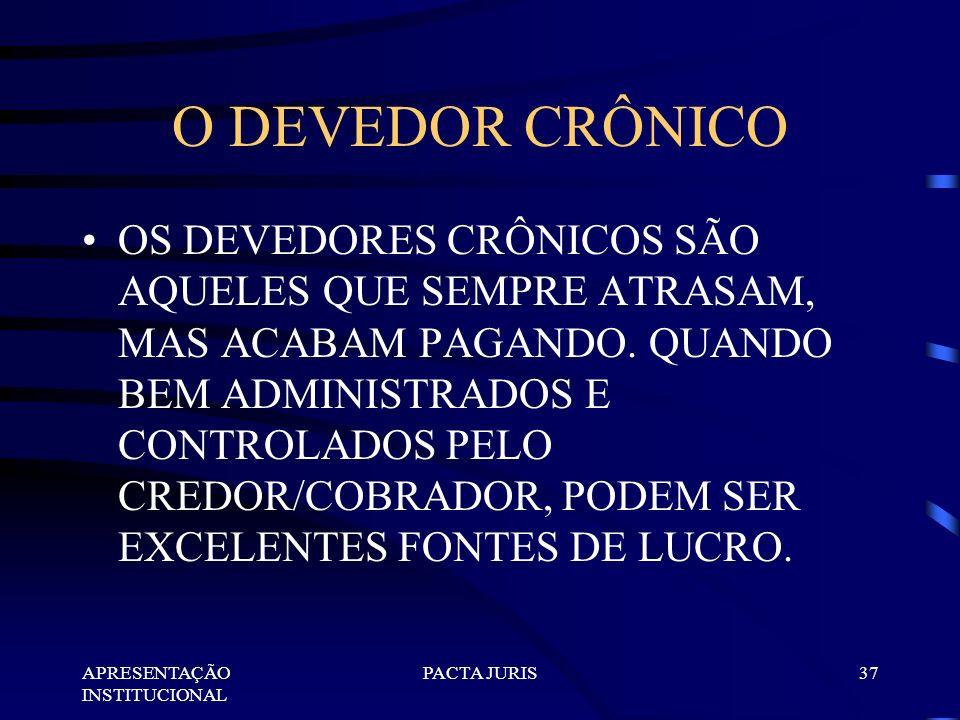 O DEVEDOR CRÔNICO