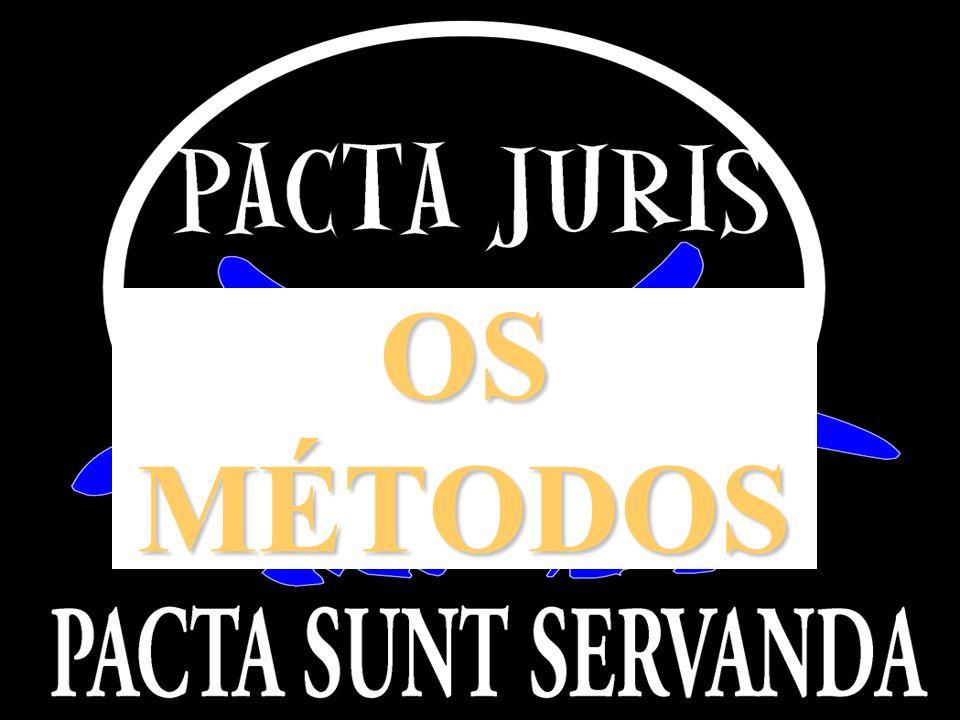 OS MÉTODOS APRESENTAÇÃO INSTITUCIONAL PACTA JURIS