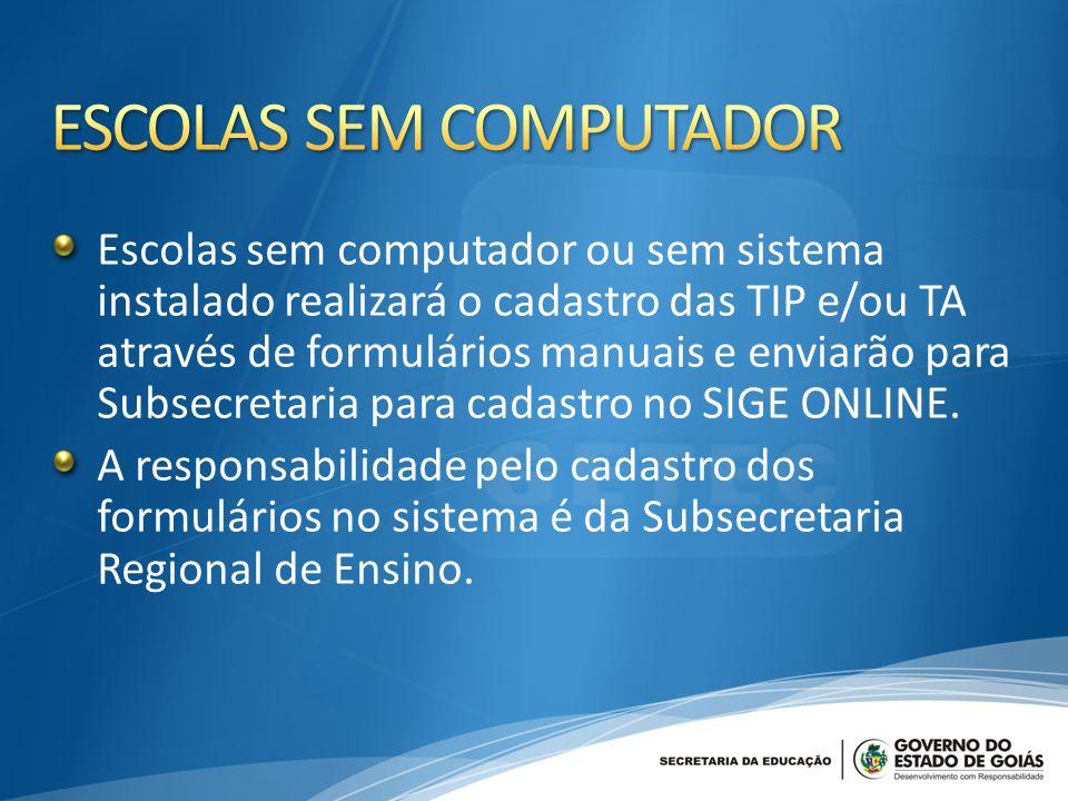 ESCOLAS SEM COMPUTADOR
