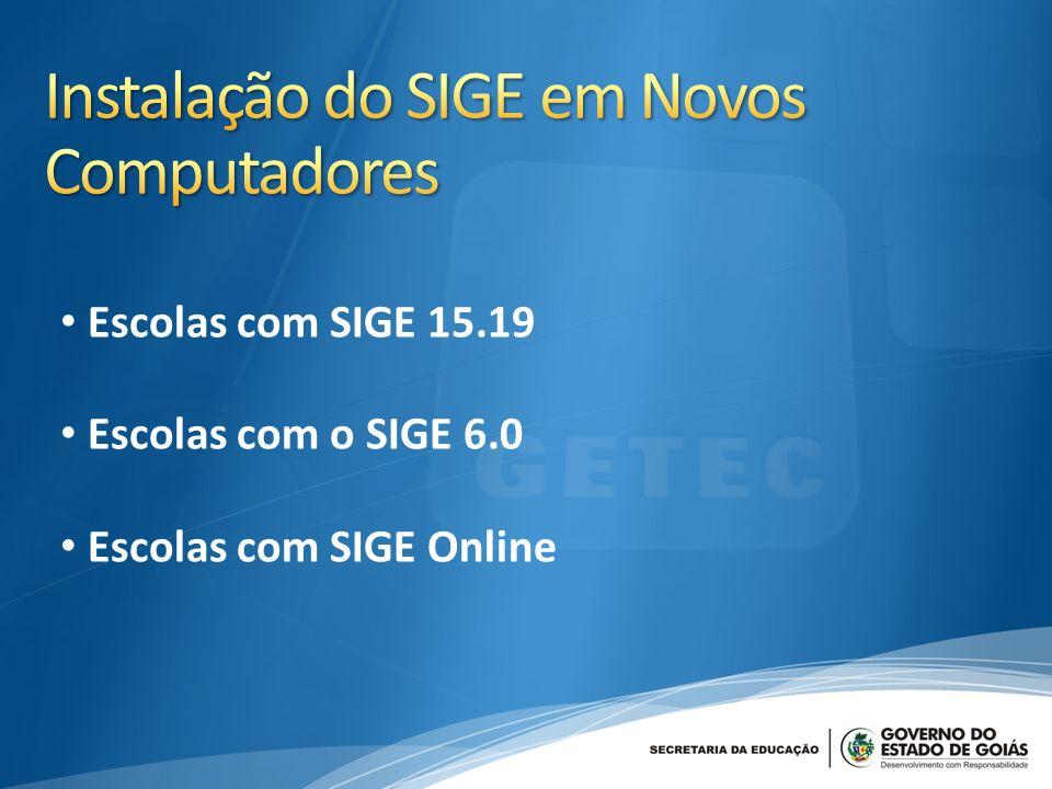 Instalação do SIGE em Novos Computadores