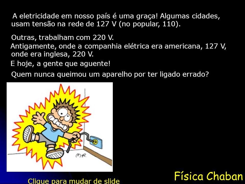 A eletricidade em nosso país é uma graça! Algumas cidades,