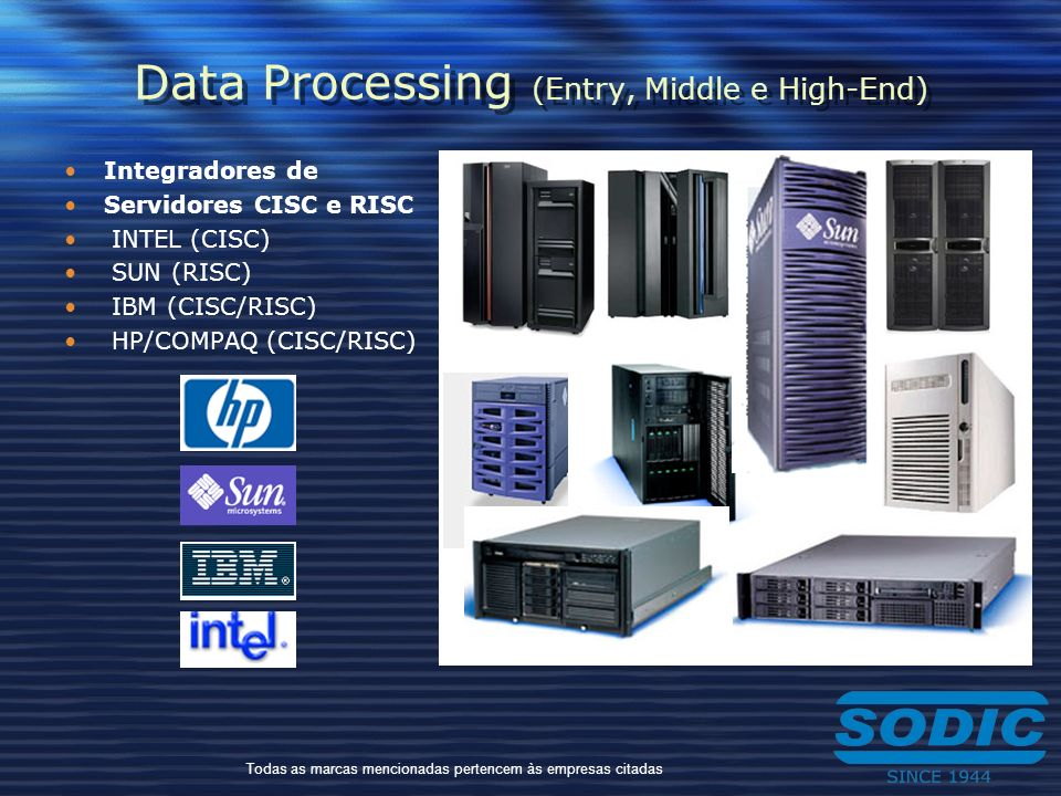 Data Processing (Entry, Middle e High-End)