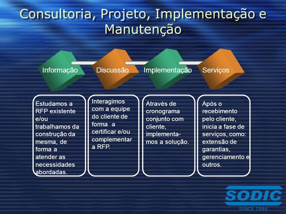 Consultoria, Projeto, Implementação e Manutenção