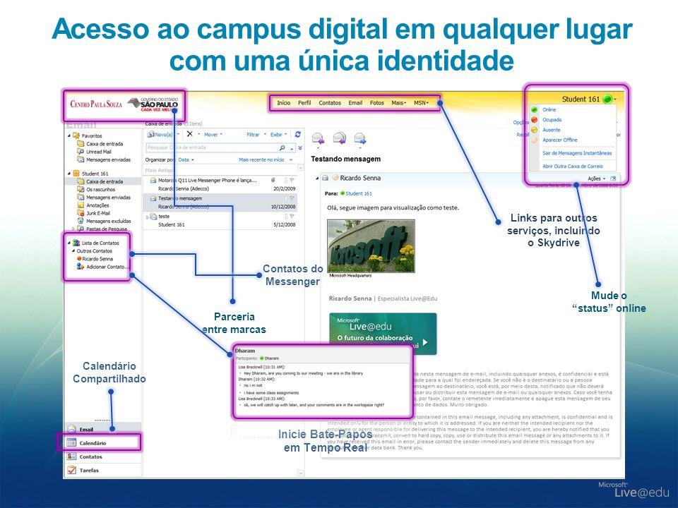 Acesso ao campus digital em qualquer lugar com uma única identidade