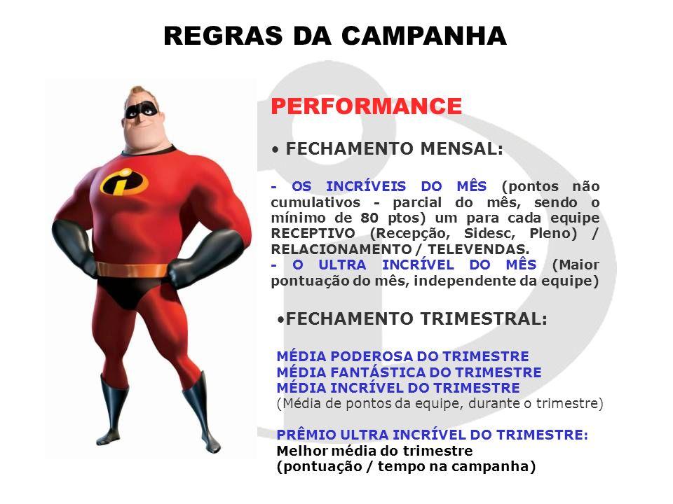 REGRAS DA CAMPANHA PERFORMANCE FECHAMENTO MENSAL: