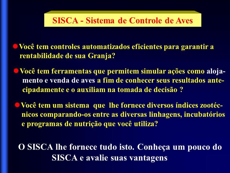 SISCA - Sistema de Controle de Aves