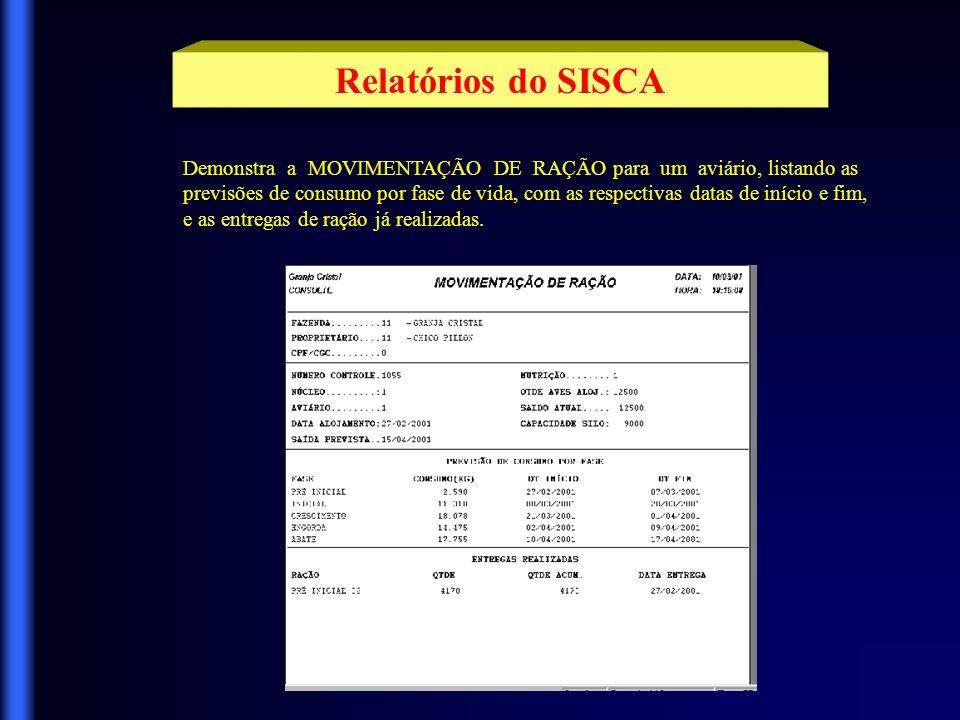 Relatórios do SISCA