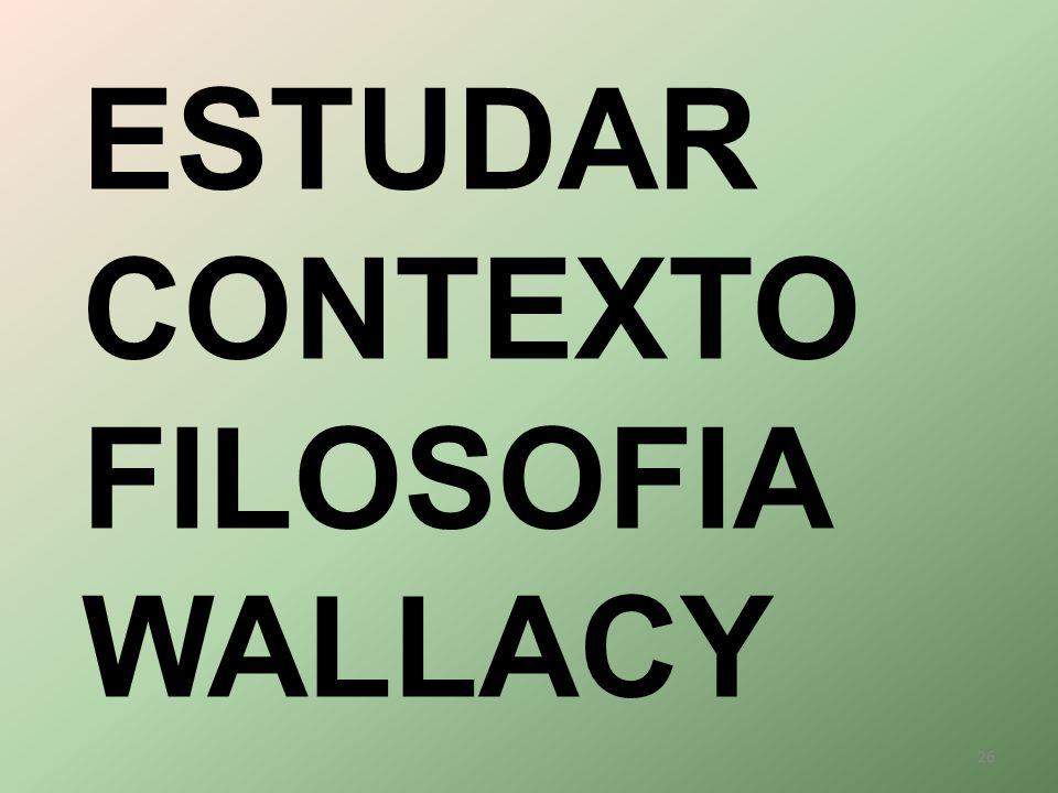 ESTUDAR CONTEXTO FILOSOFIA WALLACY