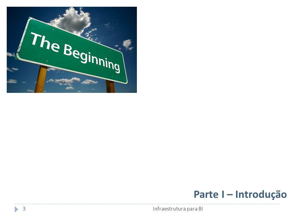 Parte I – Introdução Infraestrutura para BI