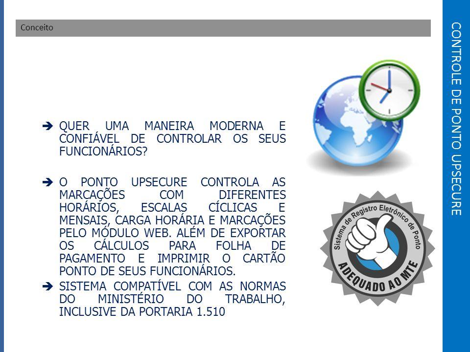 CONTROLE DE PONTO UPSECURE
