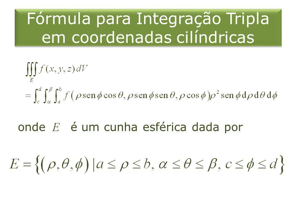 Fórmula para Integração Tripla em coordenadas cilíndricas