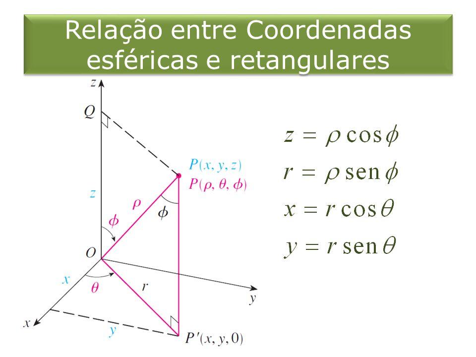 Relação entre Coordenadas esféricas e retangulares