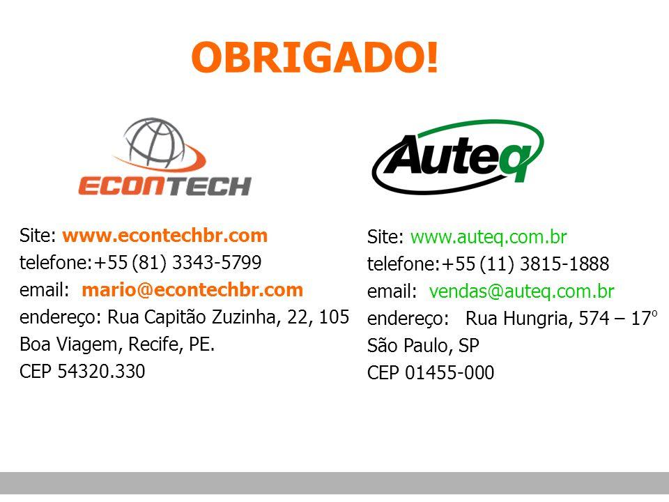 OBRIGADO! Site: www.econtechbr.com telefone:+55 (81) 3343-5799
