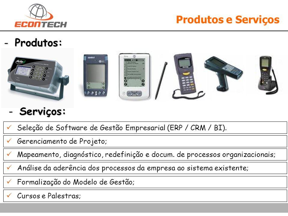 Produtos e Serviços Produtos: Serviços:
