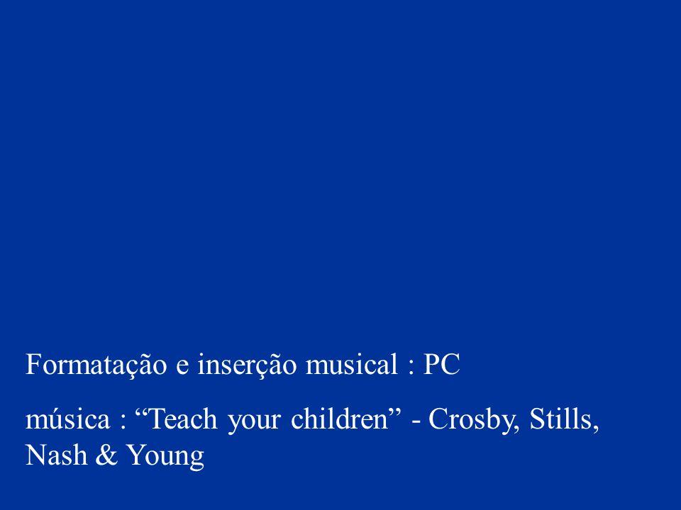 Formatação e inserção musical : PC