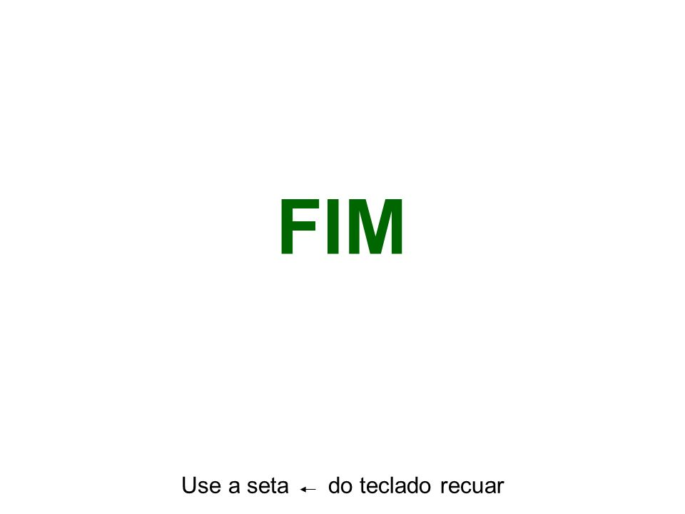 Use a seta do teclado recuar