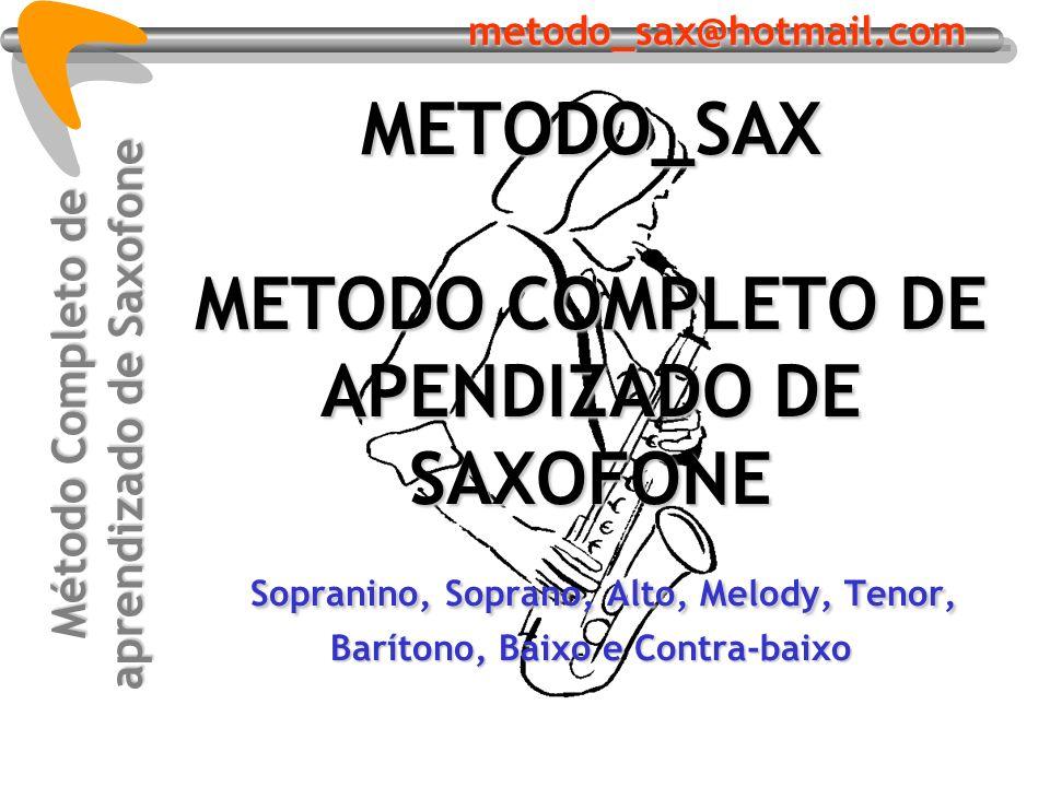 Método Completo de aprendizado de Saxofone