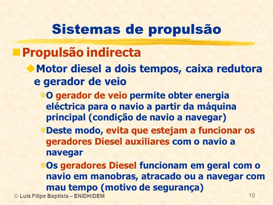 Sistemas de propulsão Propulsão indirecta