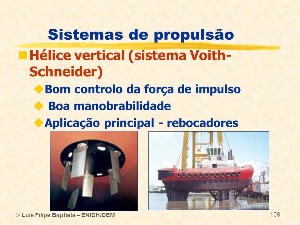 Sistemas de propulsão Hélice vertical (sistema Voith-Schneider)