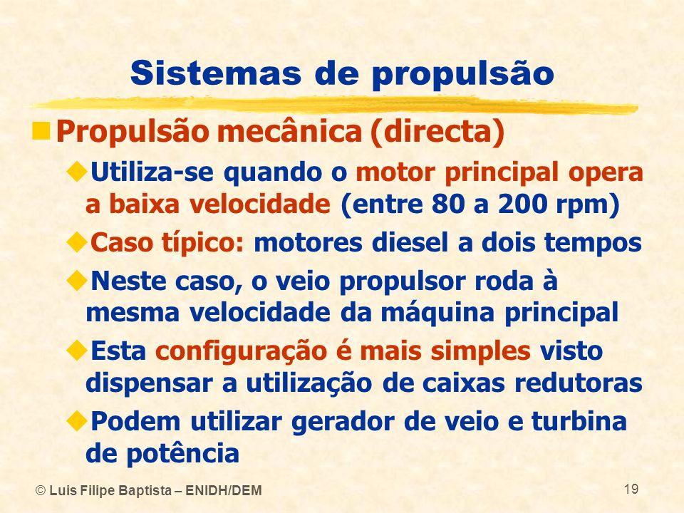 Sistemas de propulsão Propulsão mecânica (directa)