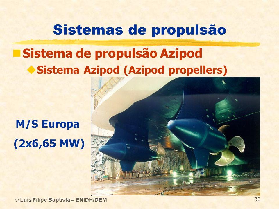 Sistemas de propulsão Sistema de propulsão Azipod